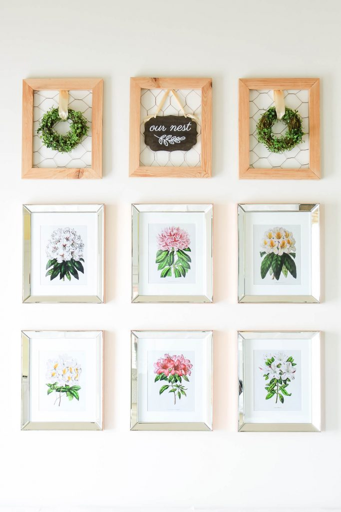 Botanical Print Spring Decorating Ideas