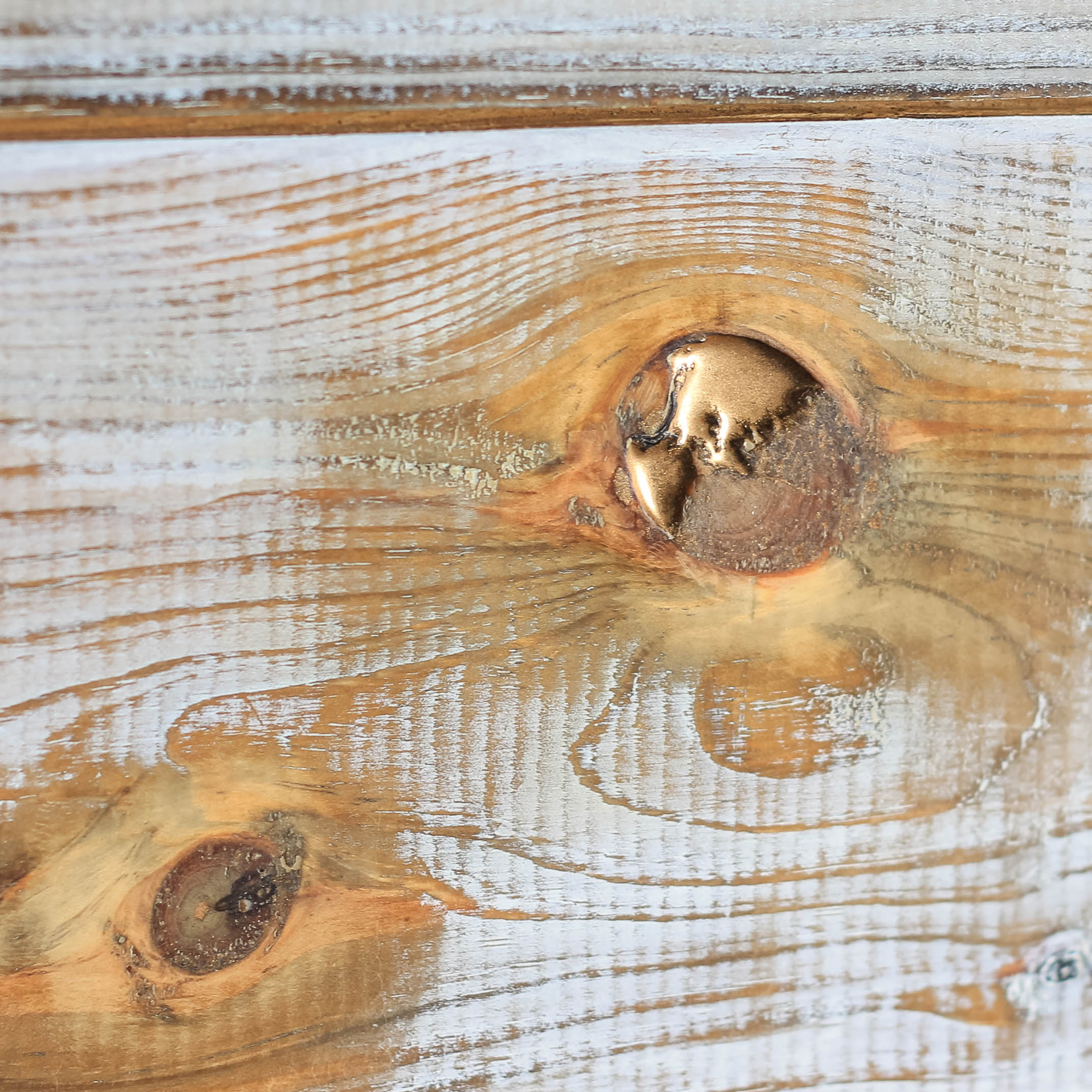 Shiplap Headboard Gold Epoxy Knot