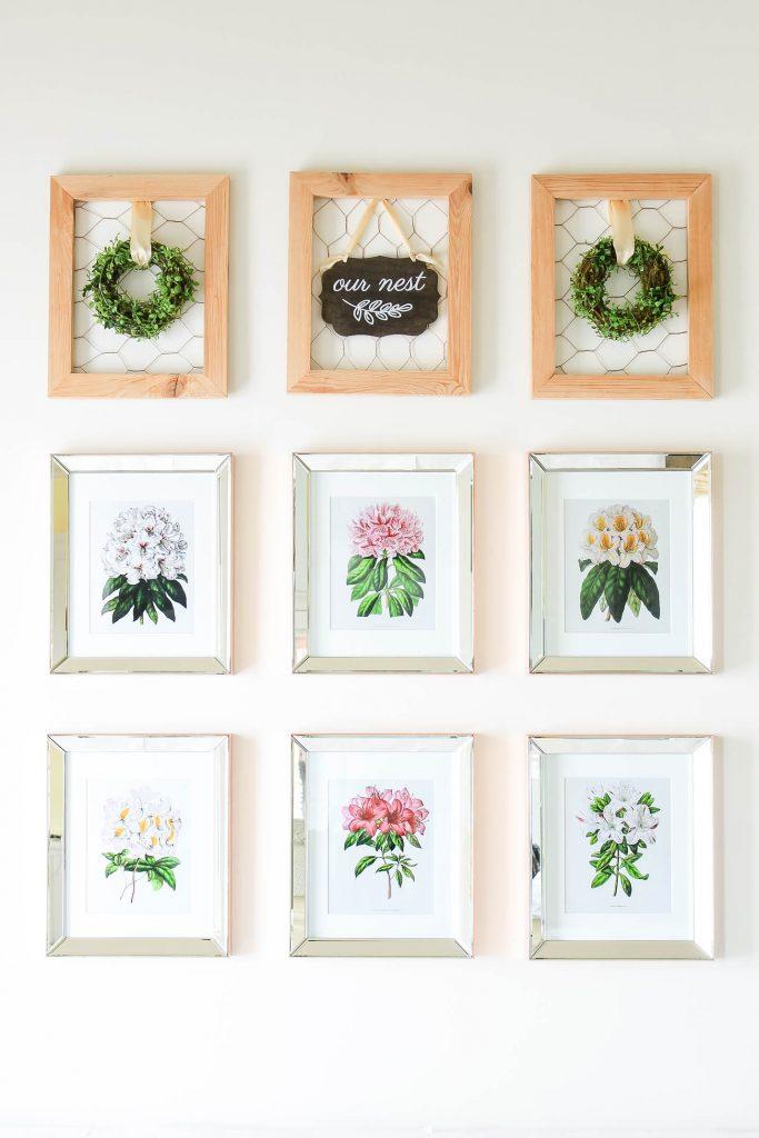 Botanical Print Spring Decorating Ideas