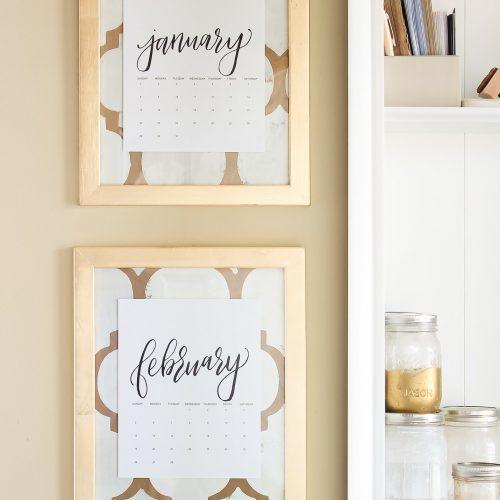 Elegant Gold Monthly Calendar