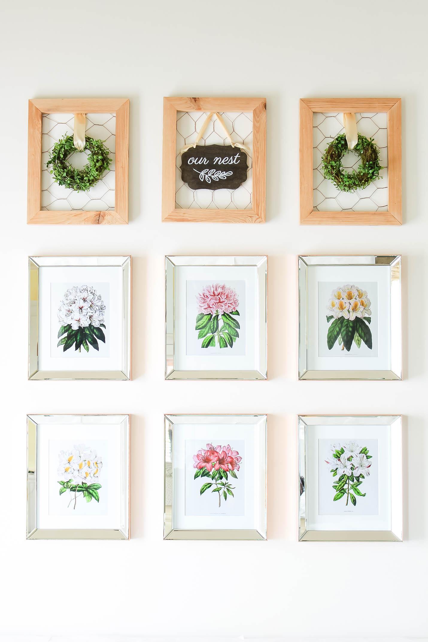 Inspiration | Botanical Print Gallery Wall