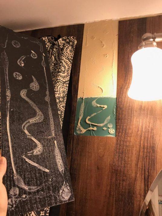 diy vinyl shiplap tile fail