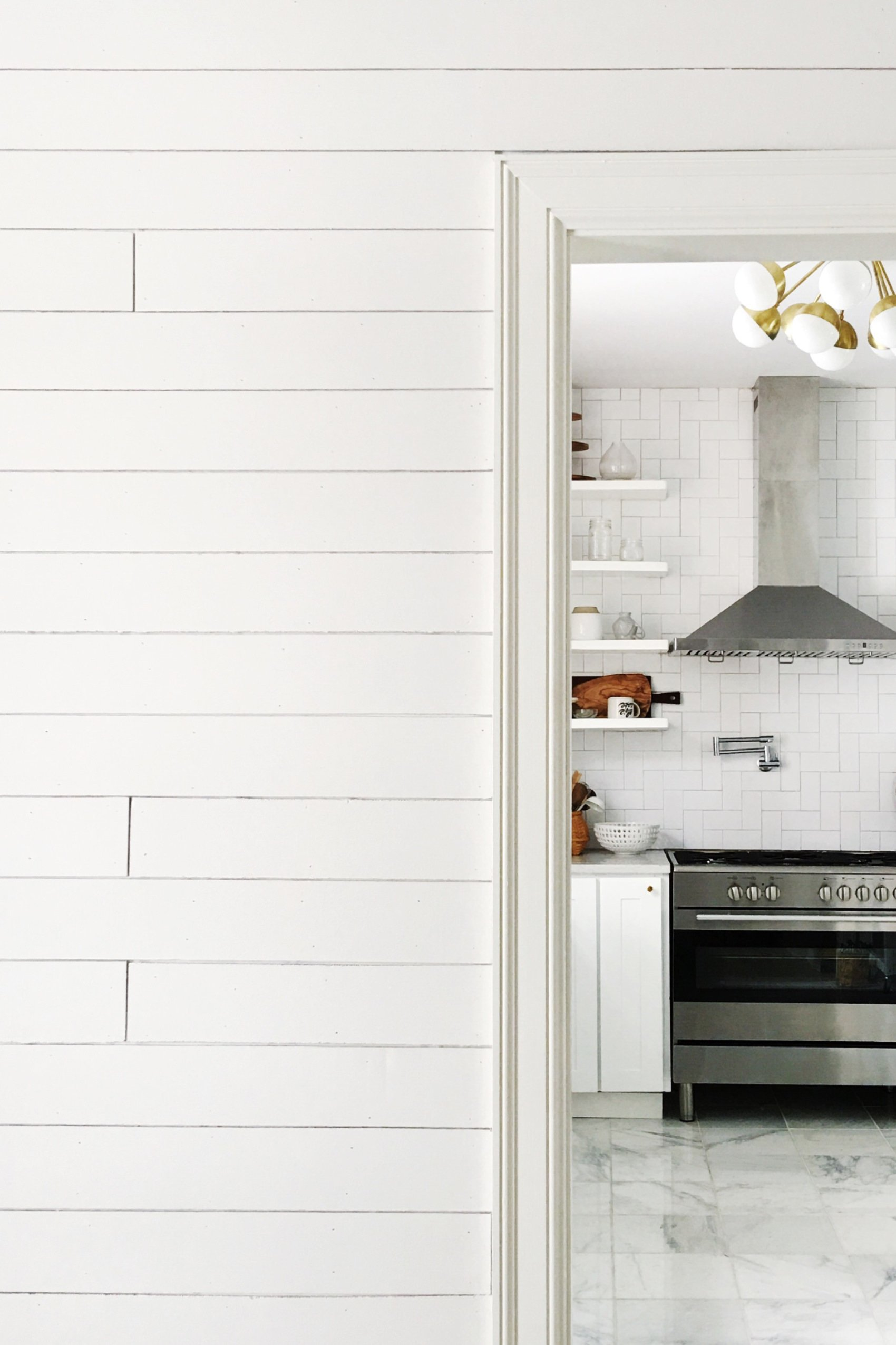 DIY Faux Shiplap with Peel and Stick Floor Planks