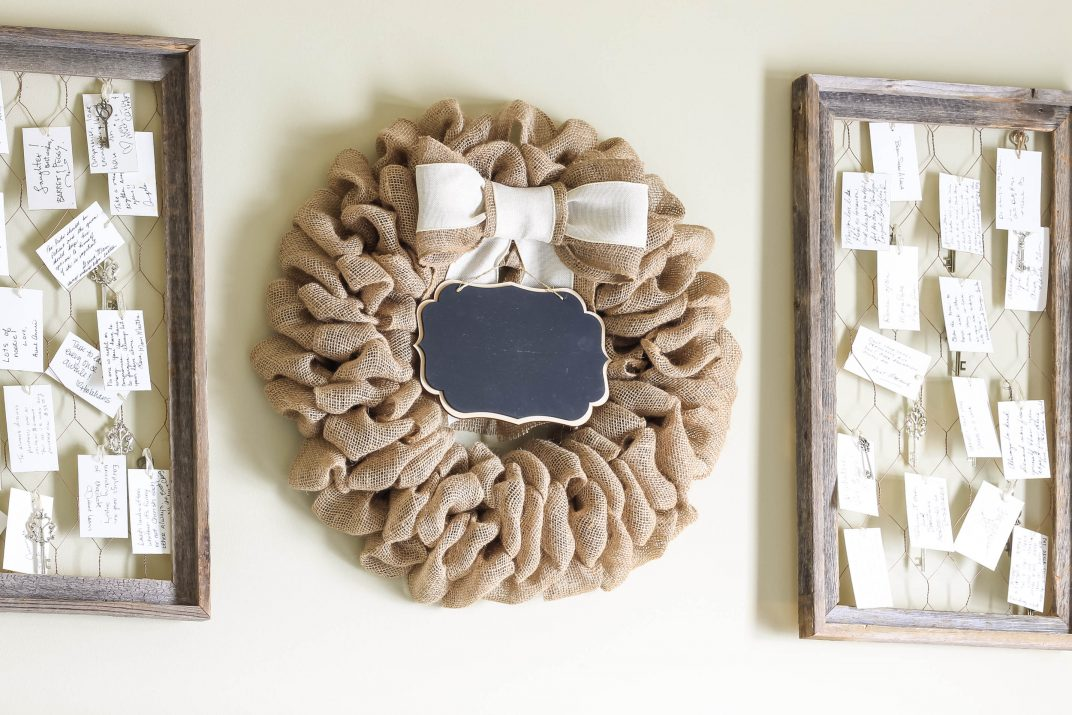 Rustic Burlap Wreath & Rustic Chicken Wire Frames