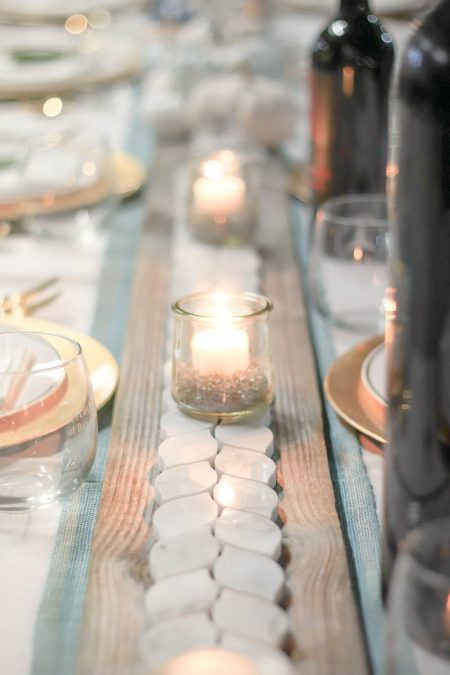 Modern Farmhouse Thanksgiving Neutral Thanksgiving Table With Candlelight