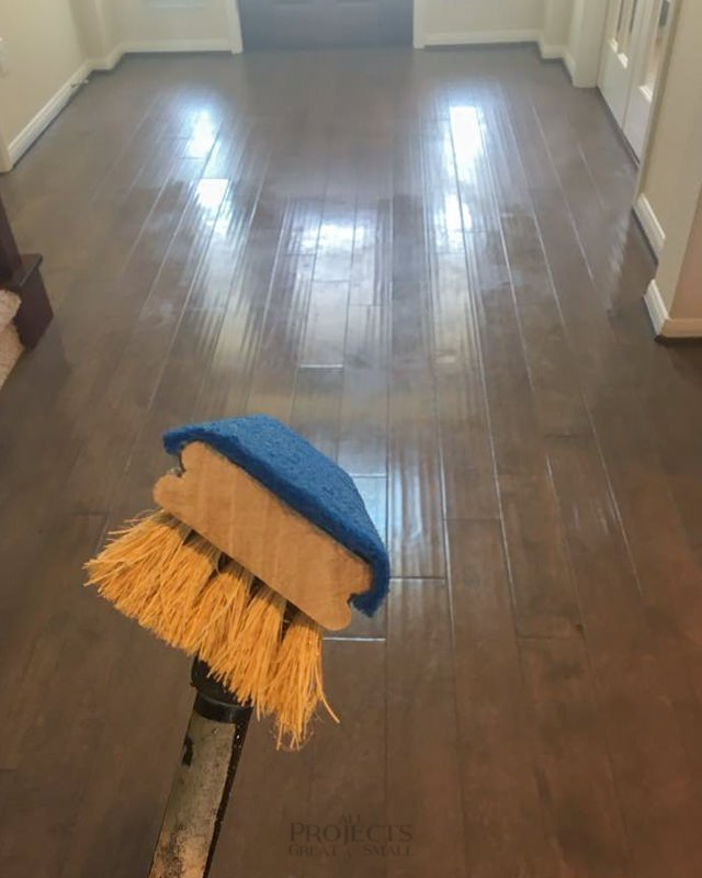 Remove Mop Amp Glo From Wood Floors All Projects Great Amp Small