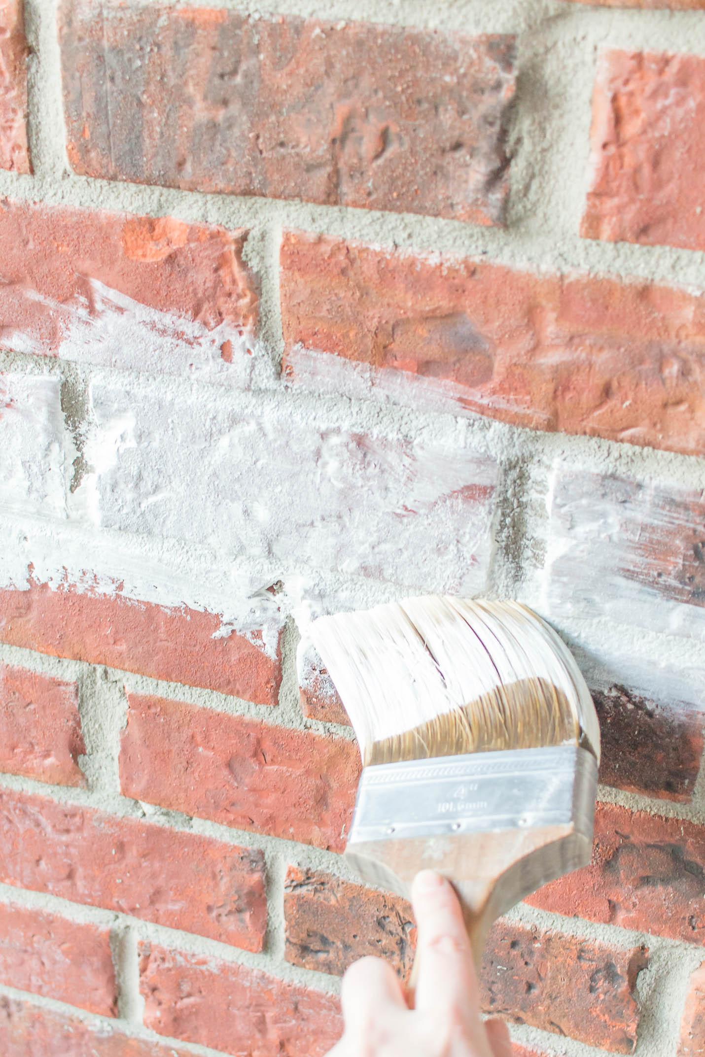 How To Whitewash Brick Authentic Diy Recipe