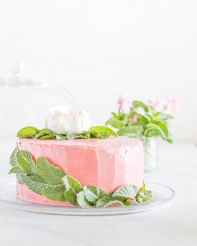 Freeze Dried Strawberry Lemon Cake