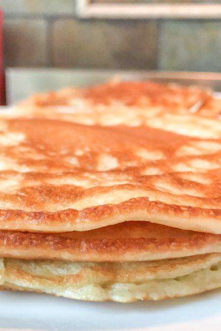 sourdough pancakes closeup