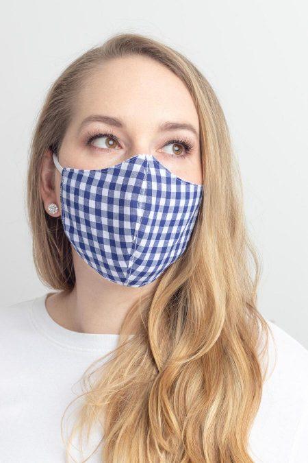 face mask gingham