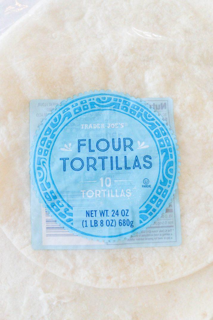 stuck flour tortillas